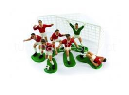 futebol jogadores vermelho