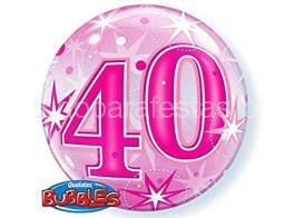 40 anos bubble rosa