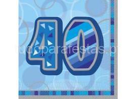 40 guardanapos azul