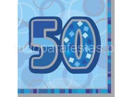 50 guardanapos azul