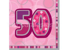50 guardanapos rosa