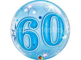 60 anos bubble azul