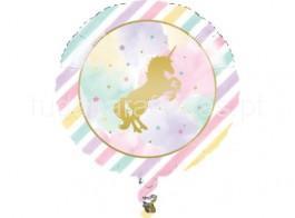 unicornio balao redondo