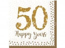 50 anos guardanapos dourados