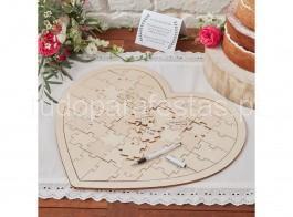 casamento coracao puzzle