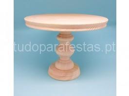 suporte bolo madeira