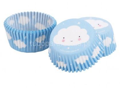 nuvens formas cupcakes