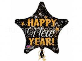 ano novo balao estrela happy new year