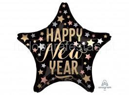 ano novo balao estrela satin