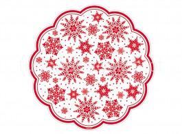 natal naperon flocos vermelhos