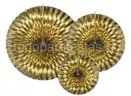 rosetas dourado foil