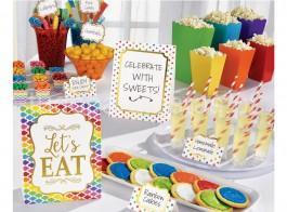kit buffet colorido