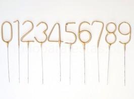 sparkler numero dourado