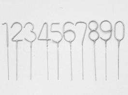 sparkler numeros prata