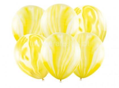 balao latex marmore amarelo