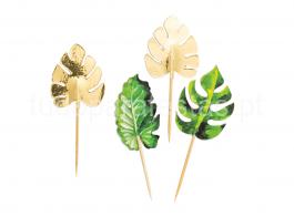tropical palitos folhas