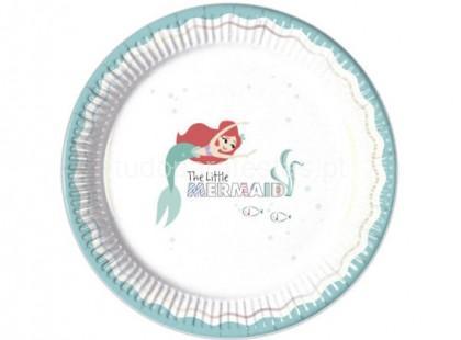 pequena sereia pratos redondos 23cm