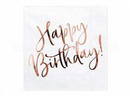 rose gold guardanapos happy birthday