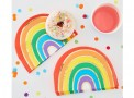 arco iris guardanapos