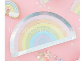 arco iris pratos pastel