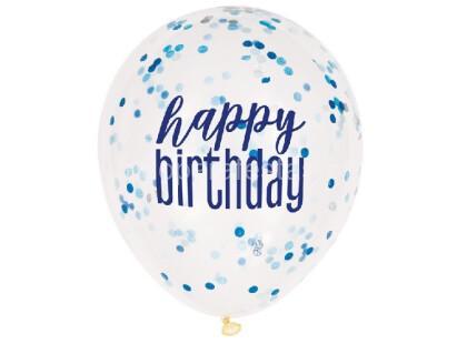 balao confetti happy birthday azul