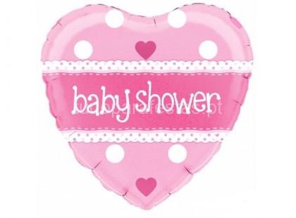bebe balao baby shower rosa