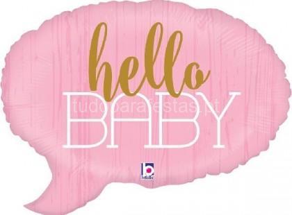 bebe balao hello baby rosa
