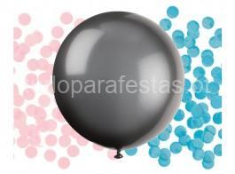 revelaçao balao preto confettis