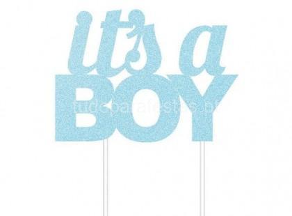 bebe topo bolo its a boy glitter