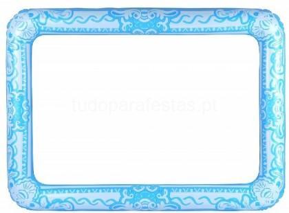 moldura insuflavel 60x80cm azul