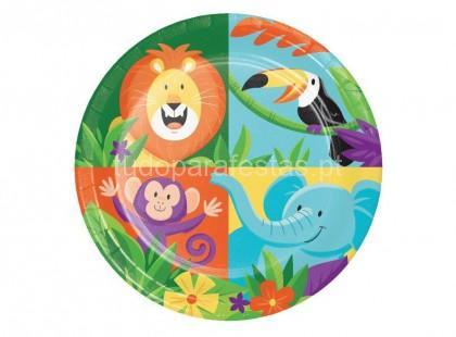 selva safari pratos 17cm