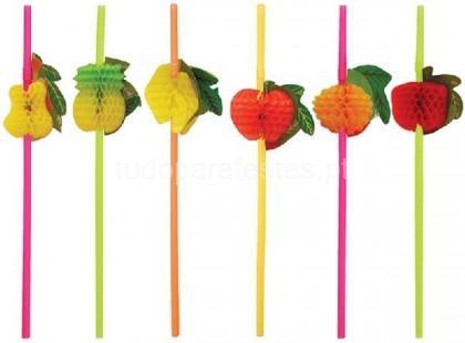 fruta palhinhas