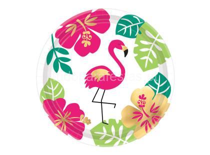 tropical prato flamingo foil