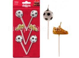 futebol velas chuteiras