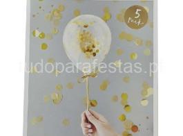 topper balao confettis ouro5