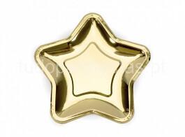 estrela dourada prato 18cm