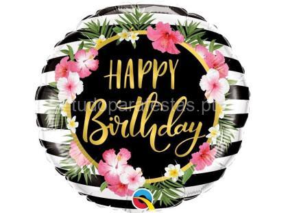 tropical balao riscas happy birthday 18'