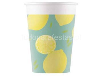 fruta limao copos