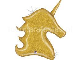 unicornio balao glitter