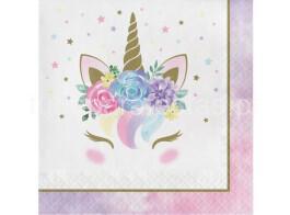 unicornio floral guardanapos