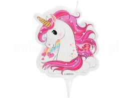 unicornio vela rosa