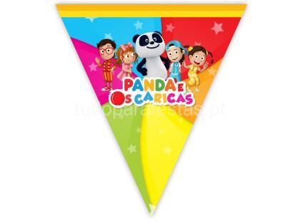 panda caricas bandeirolas