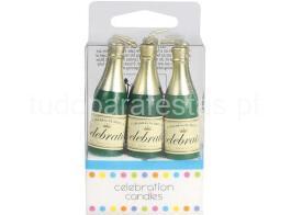 ano novo vela champagne