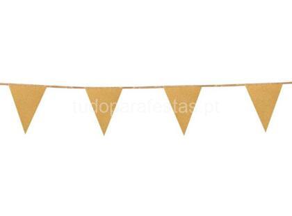 dourado bandeira glitter