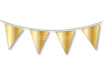 dourado bandeira triangular