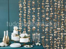 dourado cortina flores 2