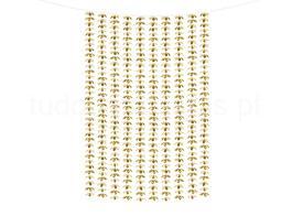 dourado cortina flores