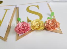faixa parabens floral