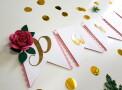 faixa parabens floral rosa