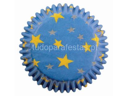 formas cupcakes azul estrelas